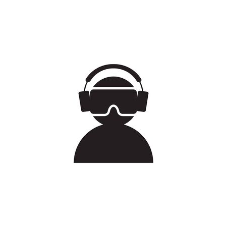 Virtual reality vr icon graphic design template
