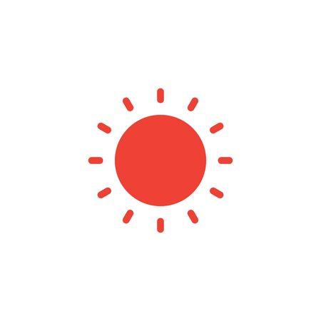 Sun hot icon graphic design template illustration Ilustrace
