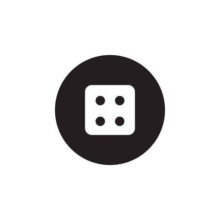 Dice icon graphic design template vector