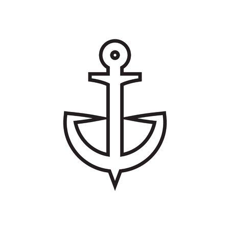 Anchor icon graphic design template vector illustration