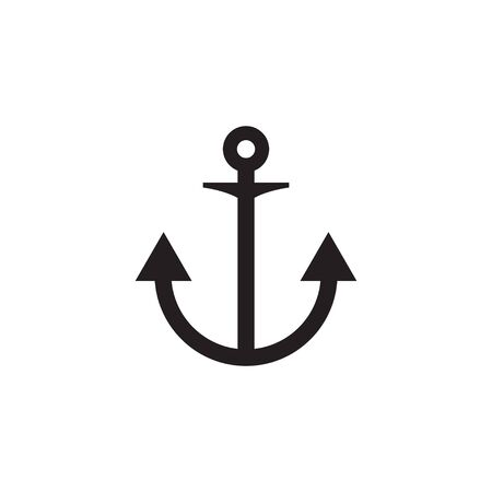 Anchor icon graphic design template vector illustration