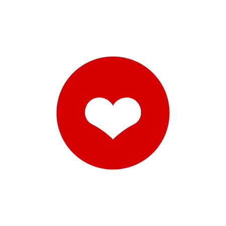 Heart icon graphic design template vector illustration Ilustração