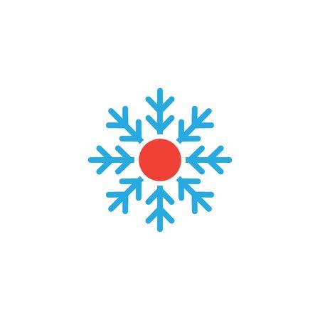 Hot and cold icon graphic design template Ilustração