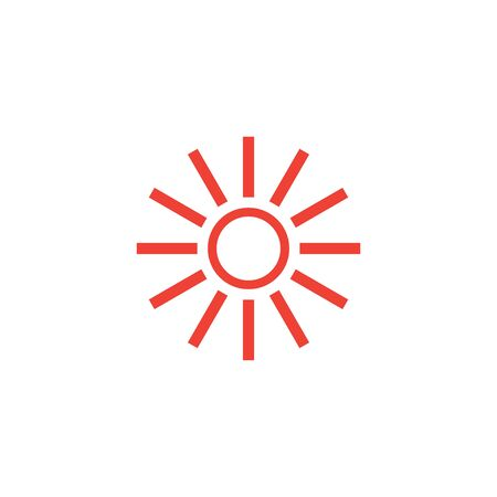 Sun hot icon graphic design template illustration Vectores
