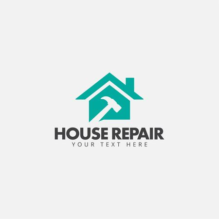 House repair logo design template vector isolated
