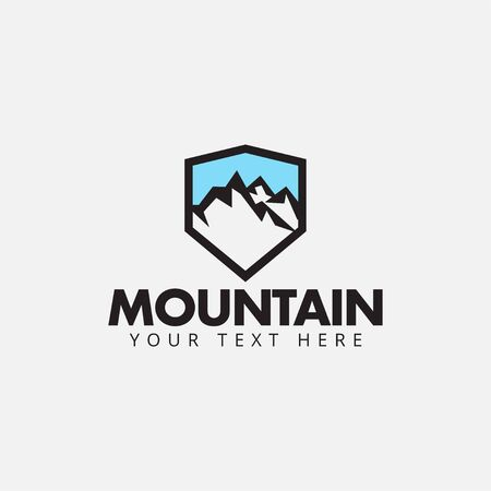 Mountain logo design template vector isolated illustration