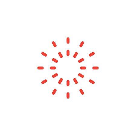 Ilustración de plantilla de diseño gráfico de icono de sol caliente