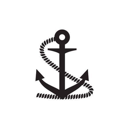 Anchor icon graphic design template vector illustration Vektorové ilustrace