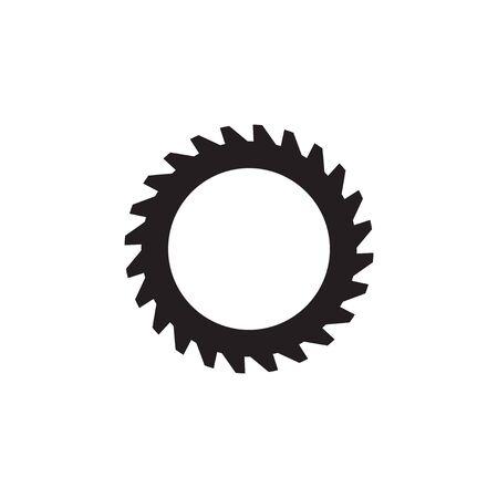 Élément de vecteur de modèle de conception de logo d'engrenage à bois isolé Logo