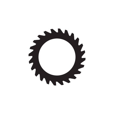 Woodworking gear logo design template vector element isolated Logo