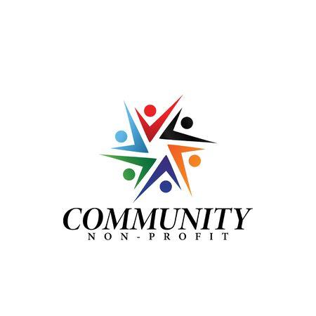 Community logo design template vector isolated illustration