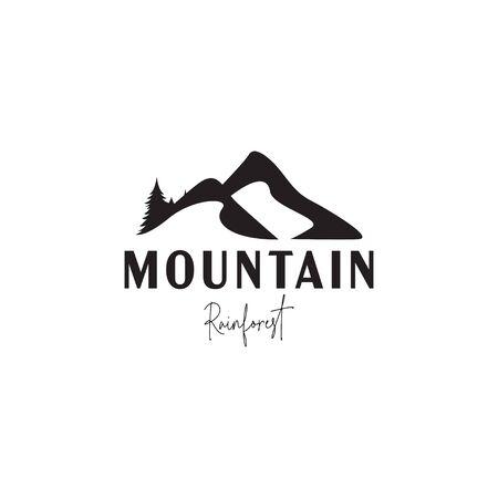 Mountain logo design template vector isolated illustration