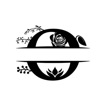Decorative monogram split letter graphic design template isolated Ilustração