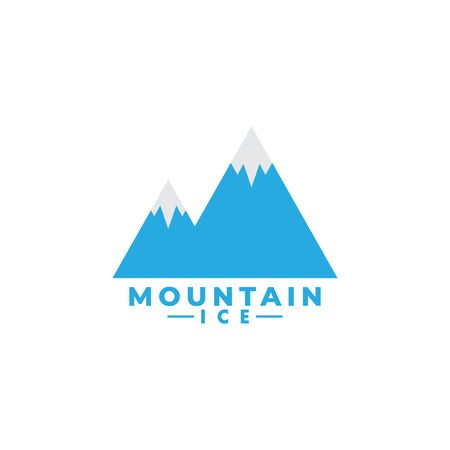 Mountain ice logo design template vector isolated