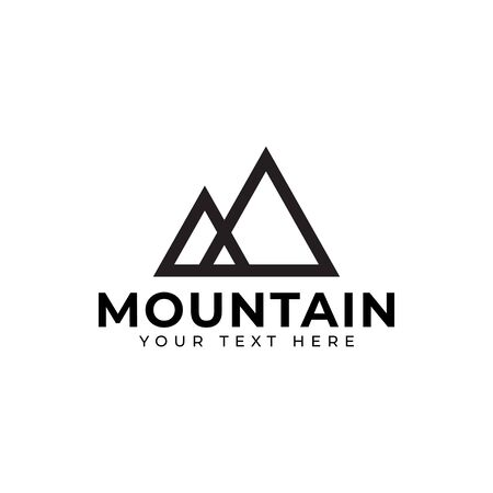 Illustration de vecteur de modèle de conception de logo de montagne isolé Logo