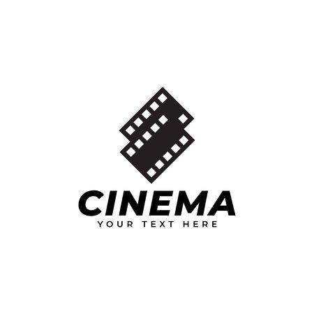 Film logo design template vector isolated illustration Ilustração