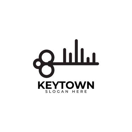 Key logo design template