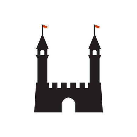 Castle graphic design template Ilustrace