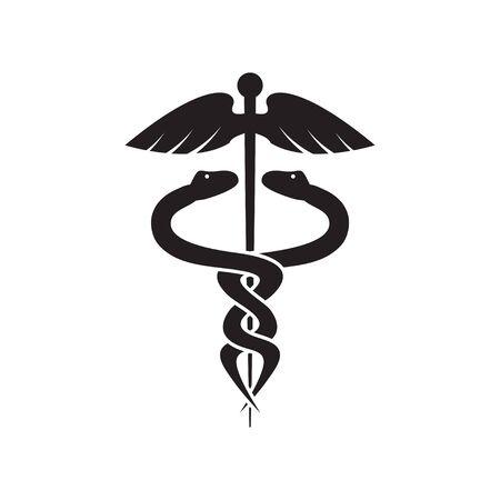 Medical snake graphic design template