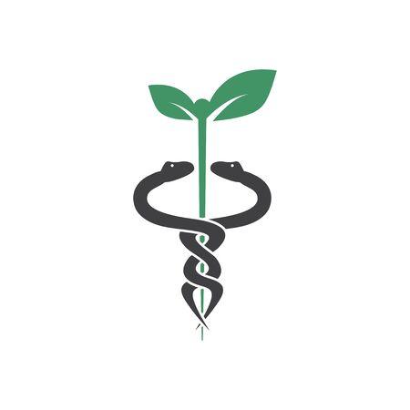Modèle de conception graphique de serpent médical