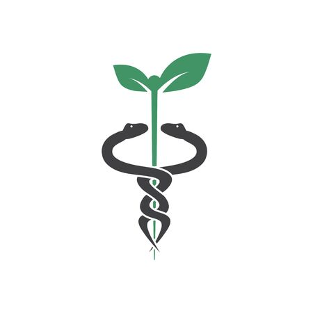 Plantilla de diseño gráfico de serpiente médica