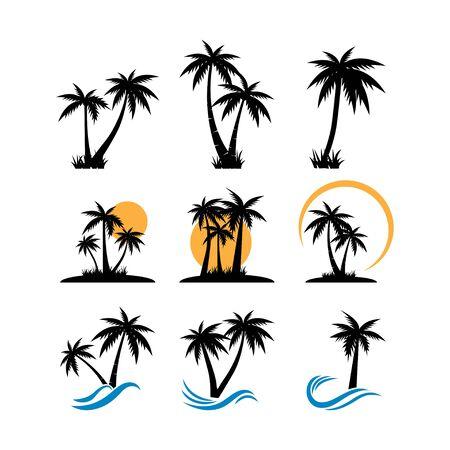 Palm tree graphic design template