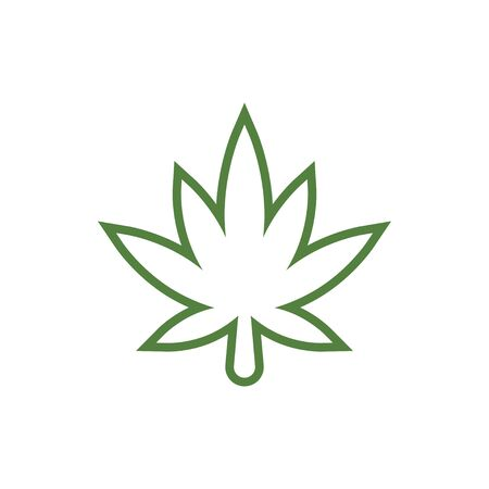 Cannabis graphic design template vector isolated illustration