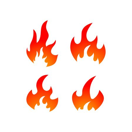 Fire graphic design template vector isolated illustration
