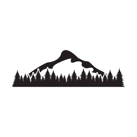 Mountain graphic design template vector isolated illustration 일러스트