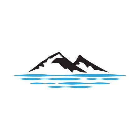 Isolierte Illustration des Berggrafikdesignschablonenvektors
