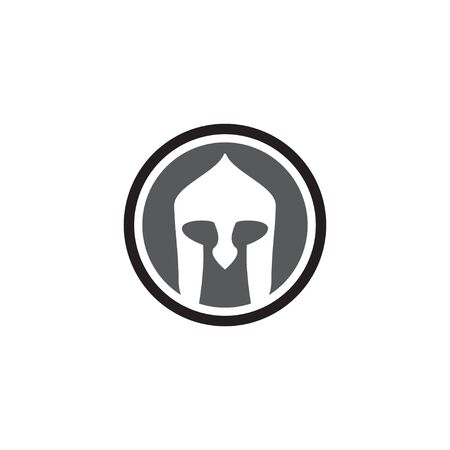 Spartan helmet graphic design template vector isolated