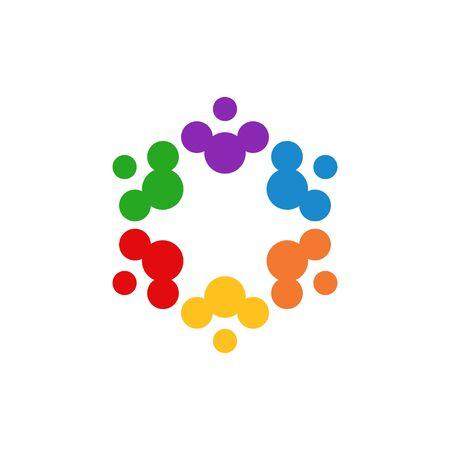 Ilustración aislada del vector de la plantilla del diseño gráfico de la comunidad
