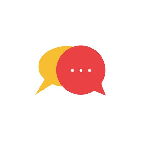 Chat graphic design template vector isolated illustration
