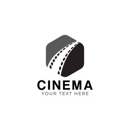 Cinema filmstrip graphic design template isolated illustration