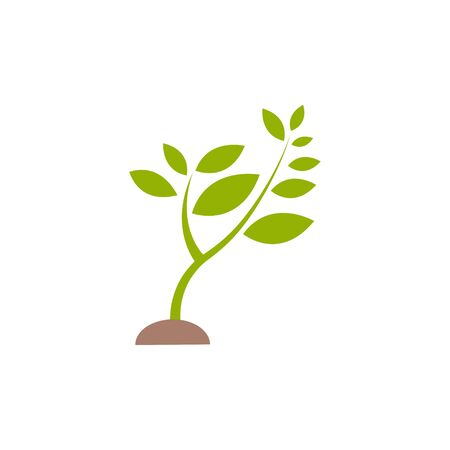 Plant sprout graphic design template vector isolated