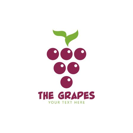 Grapes graphic design template vector isolated illustration
