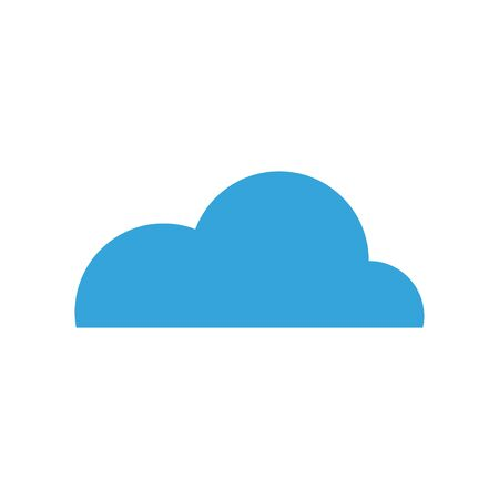 Cloud graphic design template vector isolated illustration