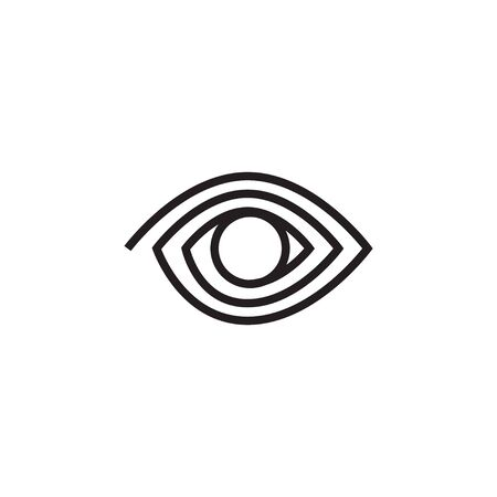 Abstract eye graphic design template vector isolated