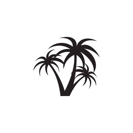 Palm tree graphic design template vector isolated Ilustração