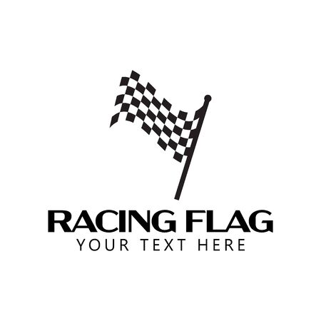 Racing flag graphic design template vector isolated