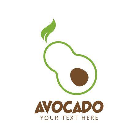 Avocado graphic design template vector isolated illustration