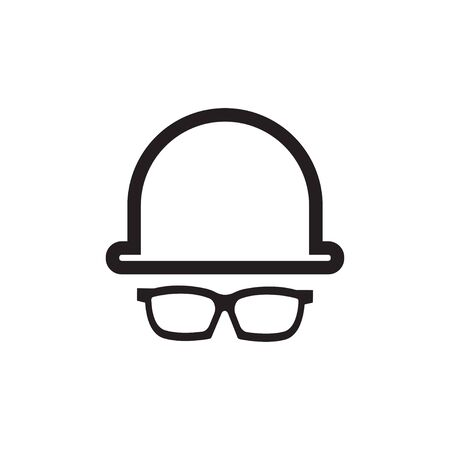 Glasses graphic design template vector isolated illustration Ilustracja