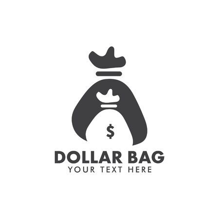 Dollar bag graphic design template vector isolated