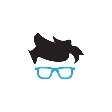 Geek glasses graphic design template vector isolated
