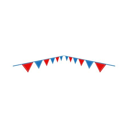 Circus flag graphic design template vector isolated Иллюстрация