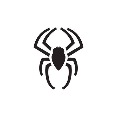 Spider graphic silhouette template vector isolated illustration Иллюстрация