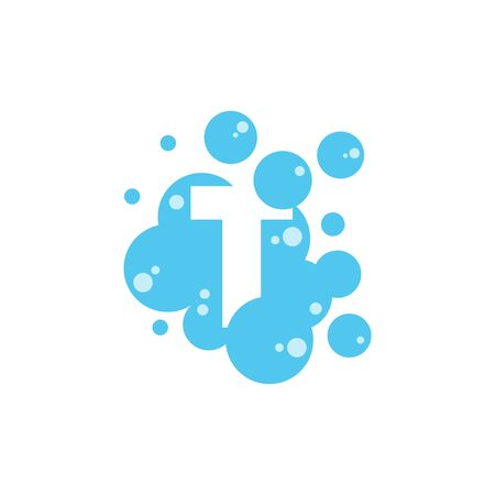 Bubble with initial letter t graphic design template Banque d'images - 130665419