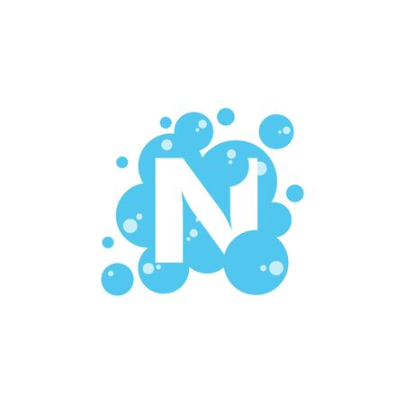 Bubble with initial letter n graphic design template Banque d'images - 130665420