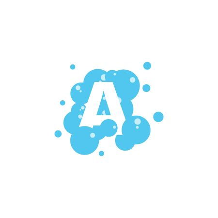 Bubble with initial letter a graphic design template Banque d'images - 130665423
