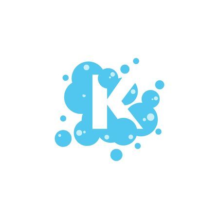 Bubble with initial letter k graphic design template Banque d'images - 130665922